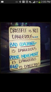 Crossfit is not dangerous